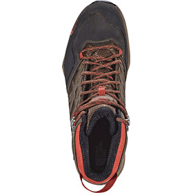 The North Face Hedgehog Hike Mid GTX Shoes Men Demitasse Brown/Rudy Red